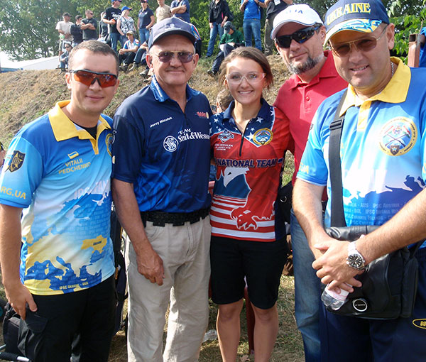 Vitaly with Jerry and Lena Miculek