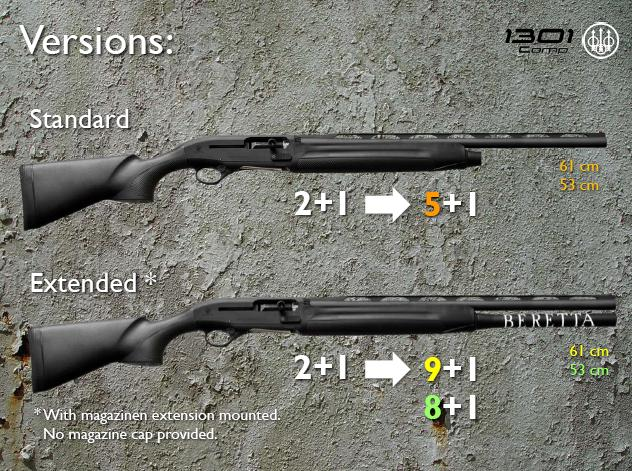 Beretta 1301, Different Versions