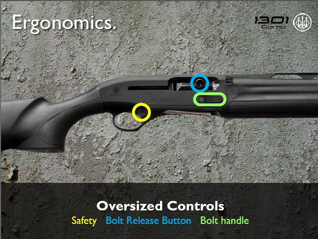 Beretta 1301 Oversized Controls