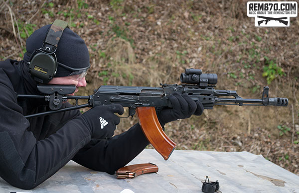 Shooter with AK-47 with Aimpoint