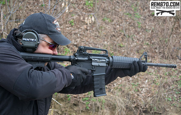 Shooter with AR-15 Rifle