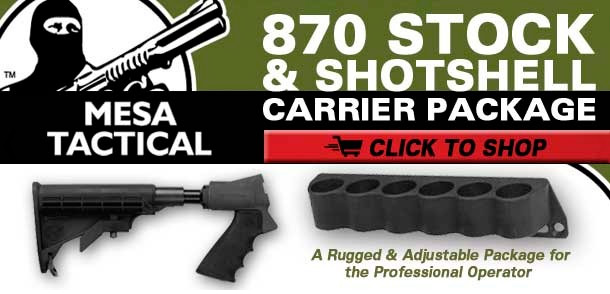 Mesa Tactical Remington 870 Stock & Shotshell Carrier Package