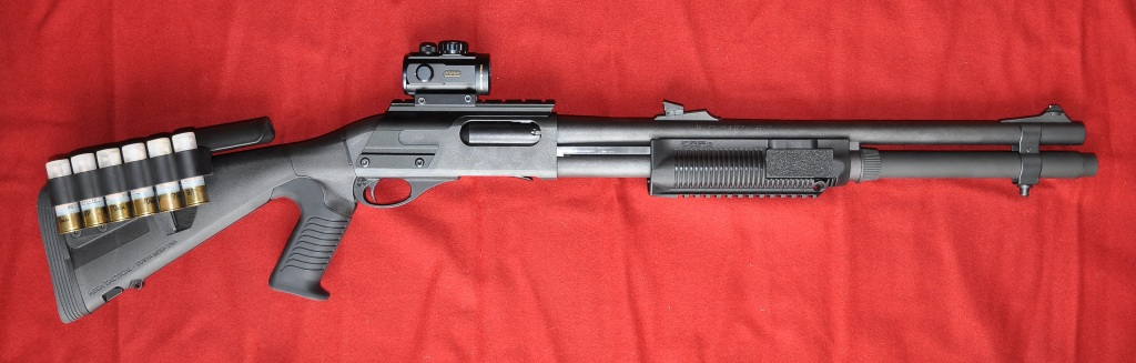 Dot Number Lookup >> Remington 870 with Urbino Stock, Sidesaddle and Red Dot Sight