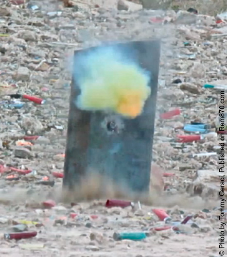 Armor Piercing Incendiary Shotgun Round in Action