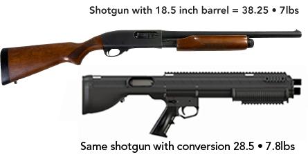 Remington 870 Bullpuo Conversion Comparison