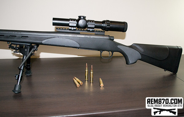 Remington 700 with S&J Hardware Rail and Millett Scope