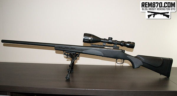 Remington 700 with Picatinny Rail from S&J Hardware, Bushnell Scope and Harris Bipod