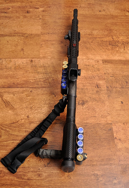 Remington 870 with ATI Stock and TacStar Sidesaddle