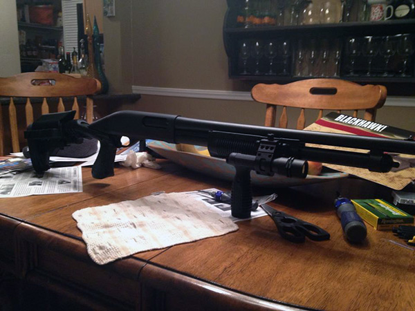 Remington 870 with Blackhawk! Knoxx Stock