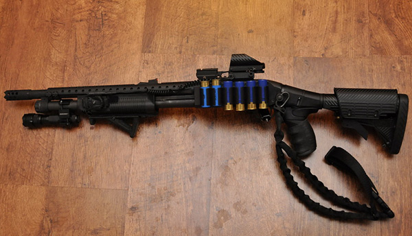 Remington 870, TacStar Sidesaddle, ATI Stock and One Point Sling