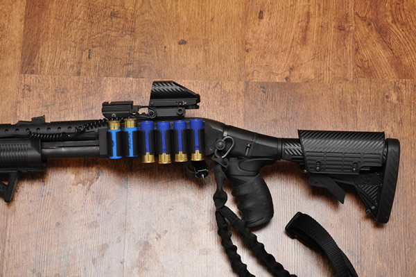 TacStar Sidesaddle, ATI Stock, Holographic Sight on Remington 870
