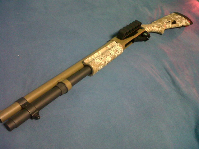 Remington 870 in Desert Camo and Multicam