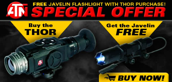 Brownells Special Offer: Buy Thermal Weapon Sight and Get FREE Javelin Flashlight
