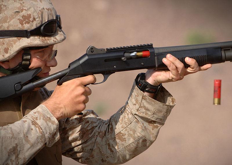 Semi-Automatic Shotgun with Magazine Tube