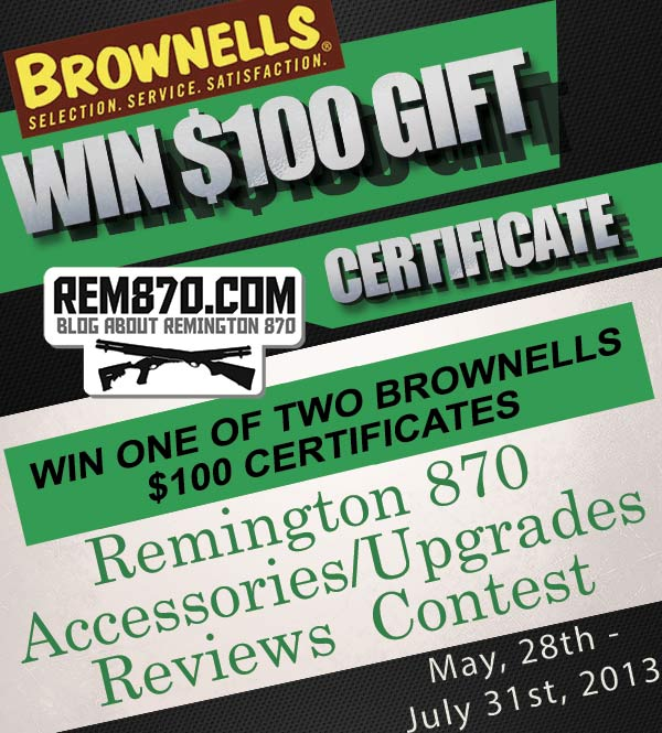 Don't Forget About New Contest! Win $100 Brownells Gift Certificate!