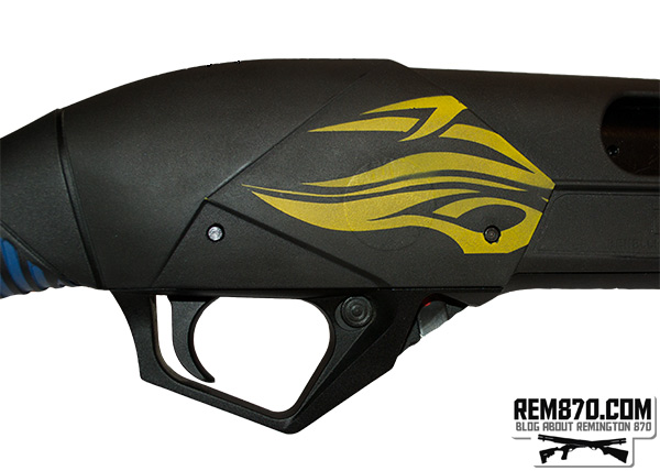 Custom Painted Benelli Supernova, Receiver