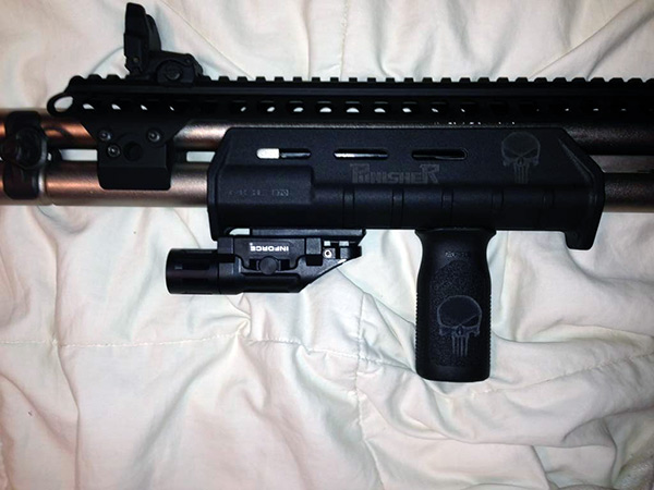Remington 870 with Magpul Forend with Inforce Flashlight and MVG Foregrip