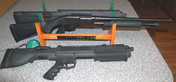 Remington 870 Bull-Pup/Classic Comparison