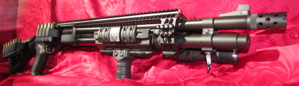 Remington870 Mesa Tactical Urbino Stock, ATI Halo Heatshield, Extension, Grip