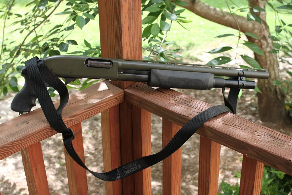 Short Remington 870 with Hogue Pistol Grip and Forend