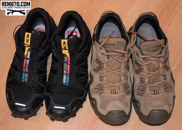 Lowa Zephyr GTX Low and Salomon Speedcross 3