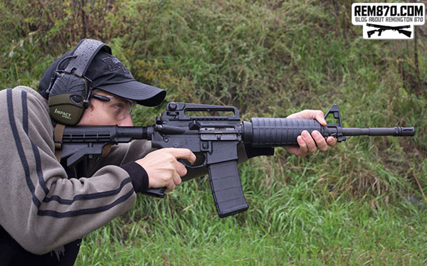 Shooter with AR-15