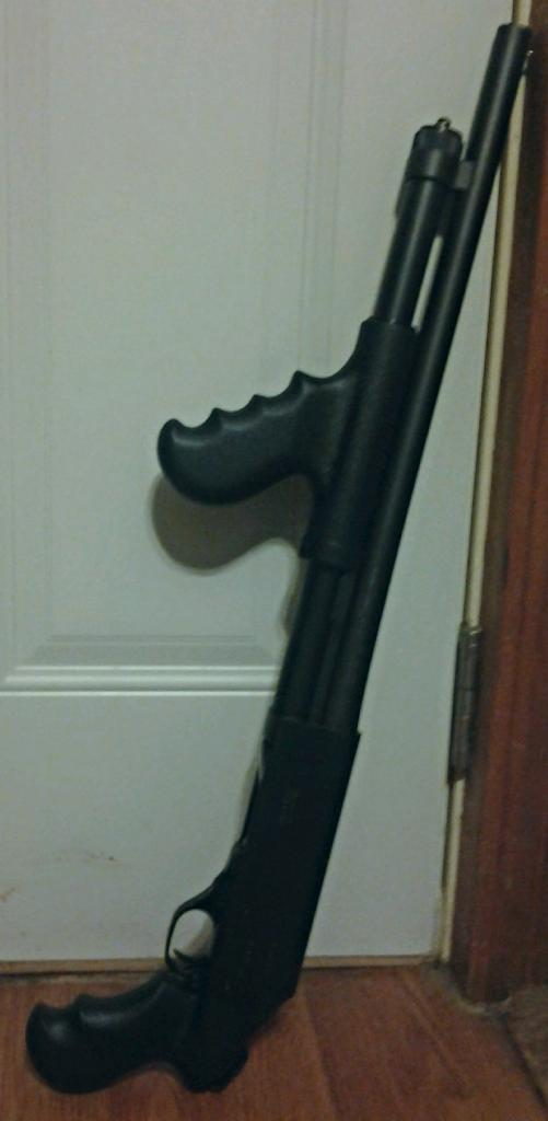 Remington 870 with TacStar Stock, Forend and Sidesaddle