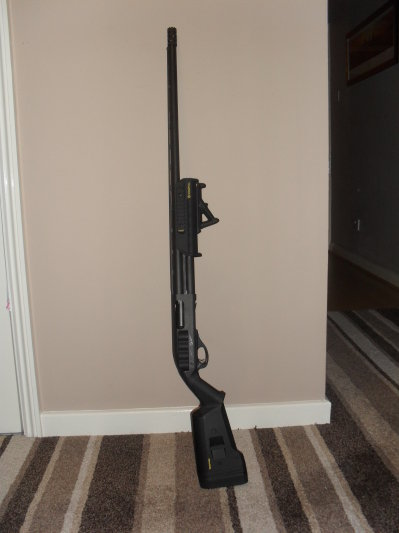 Remington 870, Magpul Furniture, Mesa Tactical Sidesaddle, XS Big Dot Tritium Sight