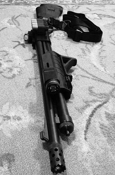 Remington 870 with Magpul Furniture and Streamlight TLR Flashlight