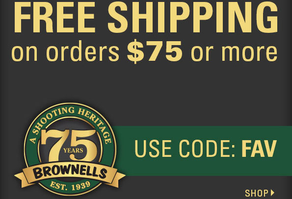 Brownells FREE Shipping Coupon Code