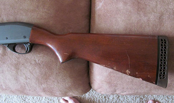 Remington 870 Stock Before Restoration