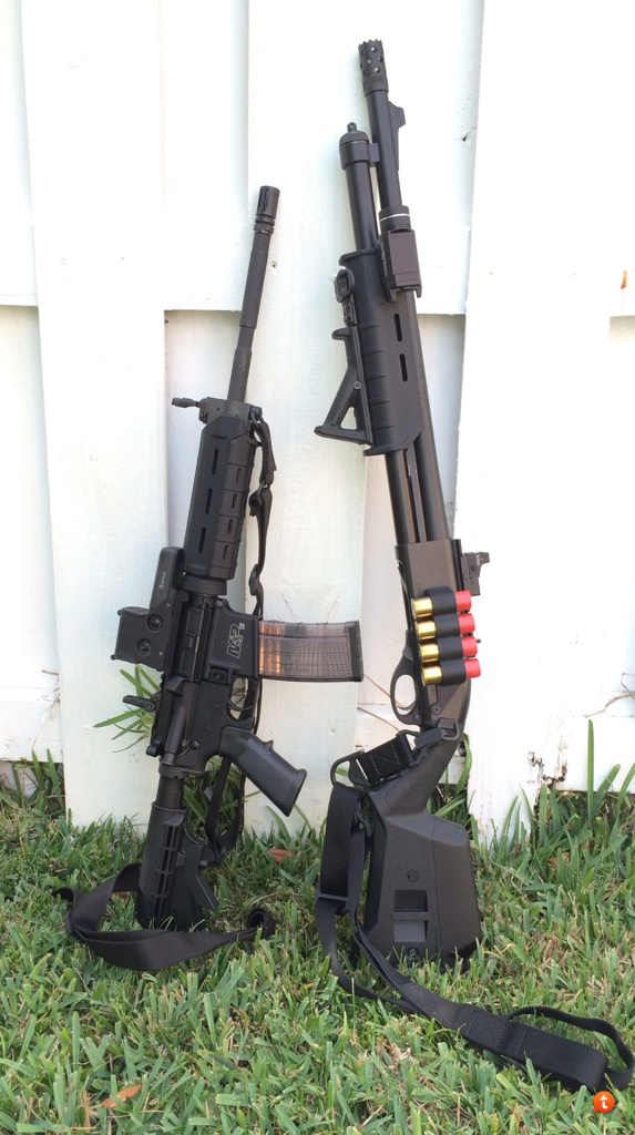 Remington 870 and AR-15