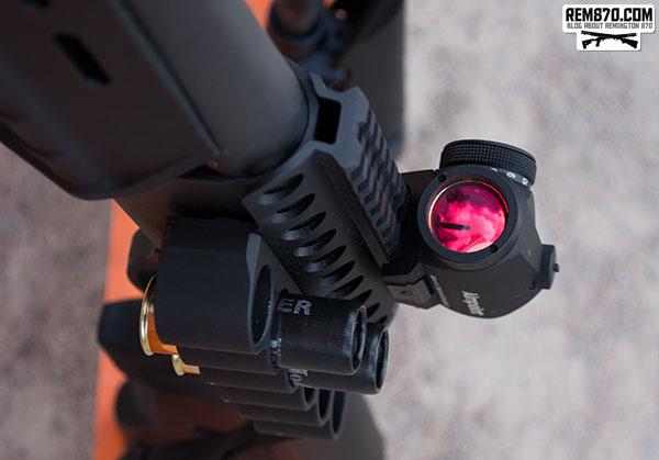 Aimpoint on a Remington 870 Shotgun