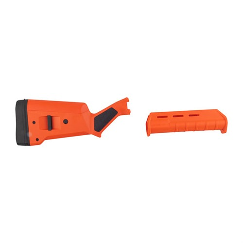 Orange Magpul Stock and Forend for Remington 870
