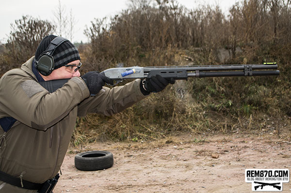 Competition Remington 870 with Long Extension and Magpul Furniture