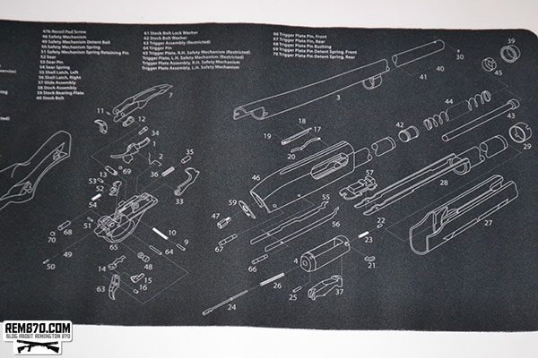 TekMat Gun Cleaning Mat with Remington 870 Imprint