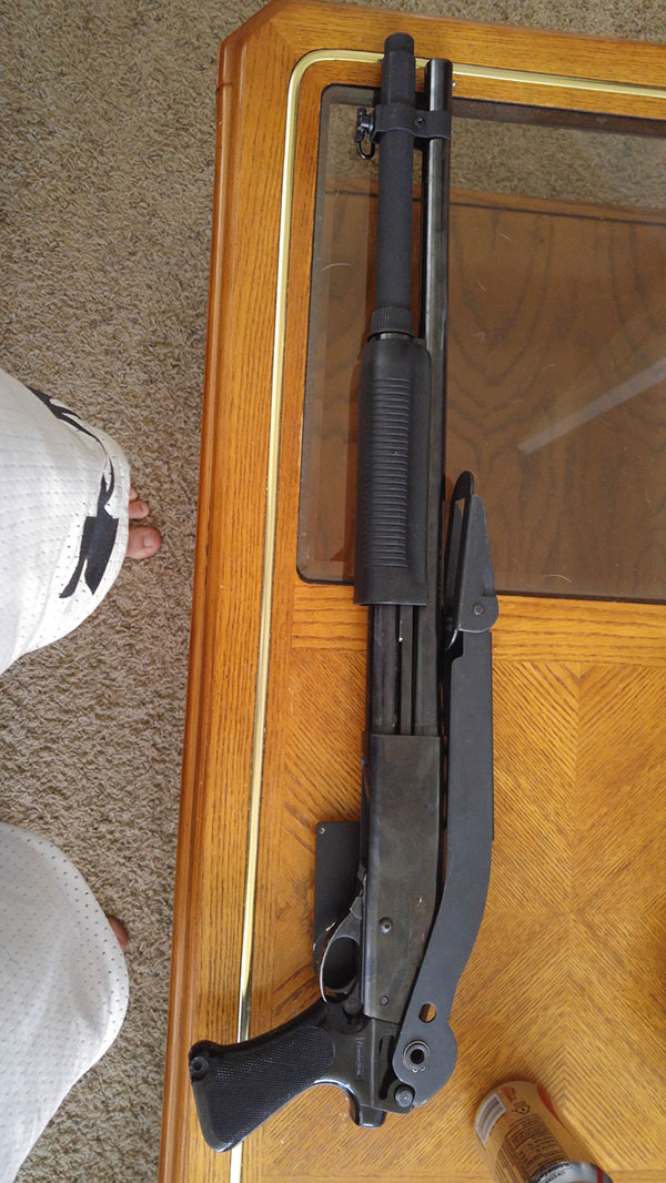 Remington 870 with Law Enforcement Folding Stock