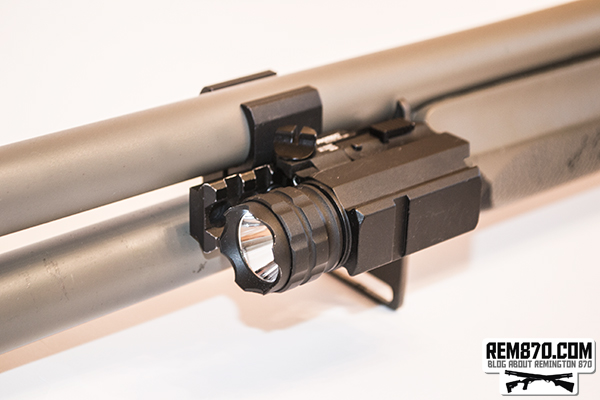 Nebo 6109 iProTec RM190 Firearm Flashlight on Remington 870