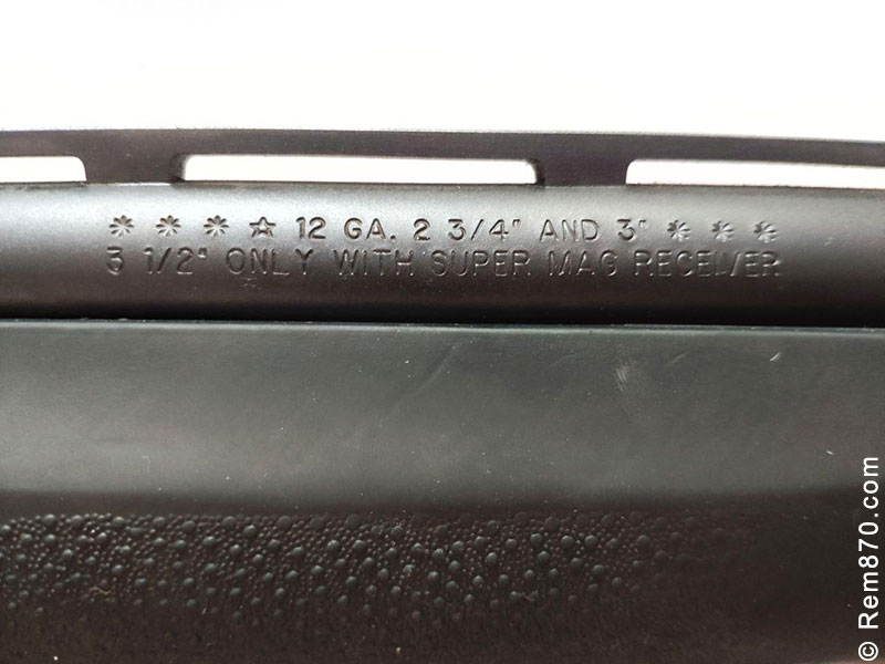 Chamber Length Stamped on Barrel