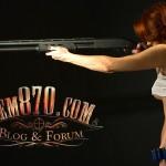 1280x720, Hot Girl with Remington 870 Shotgun Wallpaper