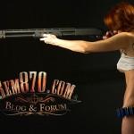 1280x800, Hot Girl with Remington 870 Shotgun Wallpaper