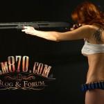 1920x1080, Hot Girl with Remington 870 Shotgun