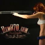 800x600, Hot Girl with Remington 870 Shotgun Wallpaper