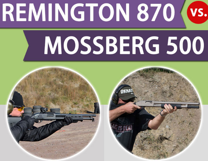 Infographic: Remington 870 vs Mossberg 500