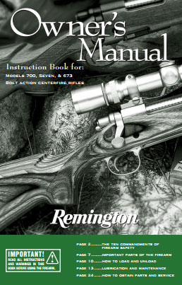 Remington 700 Owner's Manual Download (PDF)