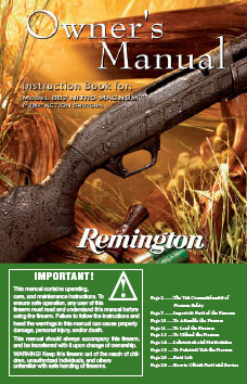 Remington 887 Owner's Manual Download (PDF)