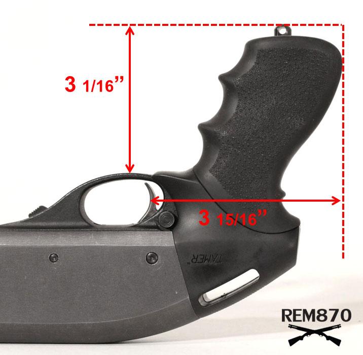 Hogue Tamer Pistol Grip Measurements