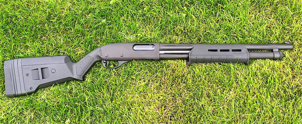 Remington 870 with Mesa Tactical Sidesaddle