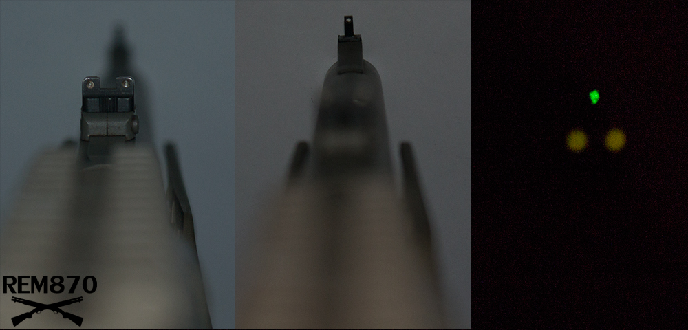 Tritium Night Sights on Remington 870 Shotgun