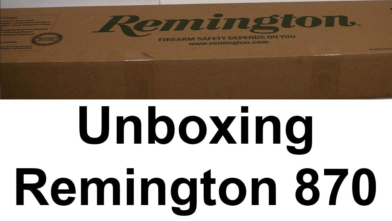 Remington 870 Combo Unboxing
